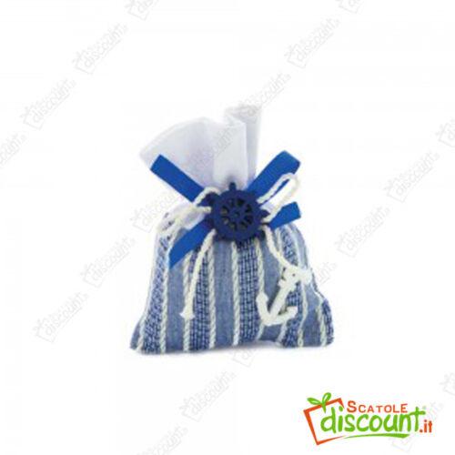 36 Favor Bags Boxes Marino Blue Rudder Anchor Wedding 8x11 cm