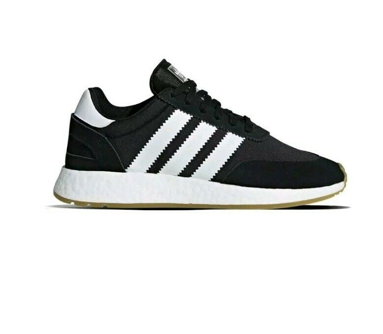 Adidas I-5923 Trainers in Black & White - boost sole textile &suede uppersuk11.5
