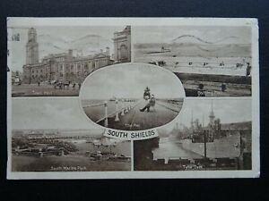 Newcastle upon Tyne SOUTH SHIELDS 5 Image Multiview, TYNE DOCKS c1920s Postcard