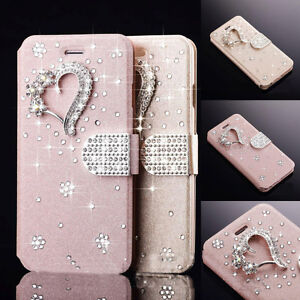 Luxury-Diamond-Magnetic-PU-Leather-Flip-Wallet-Case-Cover-For-Samsung-iPhone