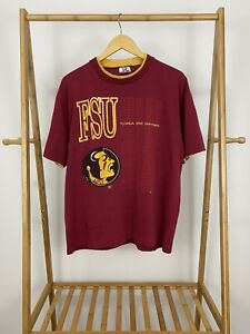 VTG-90s-Florida-State-University-Seminole-Short-Sleeve-T-Shirt-Size-XL-USA