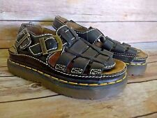 Doc Martens Black Leather Fisherman Sandals Size Womens 7 UK 5 38 8092 VTG 90's
