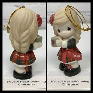 2019 HAVE A HEART-WARMING CHRISTMAS Precious Moments Dated Porcelain Figurine