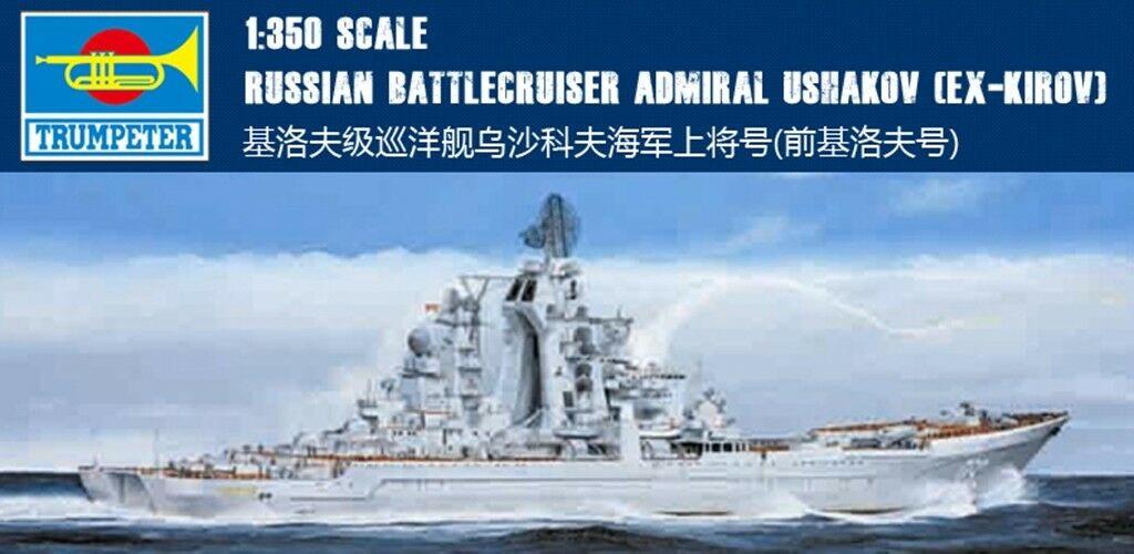 04520 Trumpeter 1 350 Model Russian Cruiser Admiral Ushakov Warship Plastic Kit