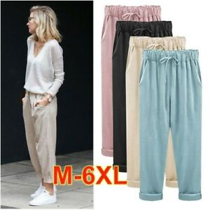Wide Leg Pants M-6xl!!spring And Summer Fashion Brief Male Cropped Loose All-match Elastic Casual Wide Leg Pants