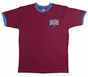 Retro-Thames-Ironworks-West-Ham-1890s-Football-T-Shirt-New-Embroidered-Logo