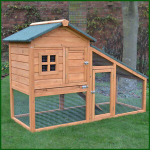 Rabbit guinea pig hutch hutches run runs large 2 tier for Free guinea pig hutch