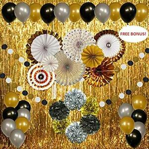2020 Graduation Decorations.Details About New Years Eve 2020 Decorations Gold Silver And Black 44 Pieces Graduation