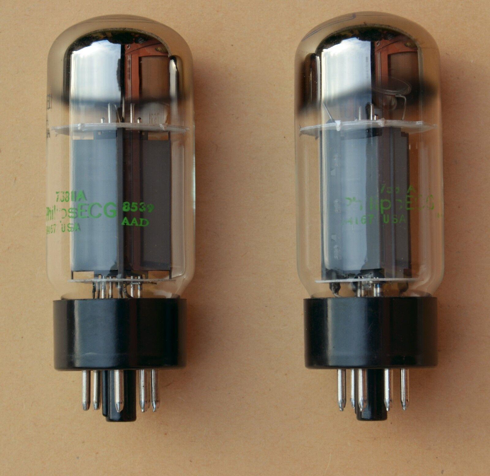 NOS Sylvania 7581A (KT66) 6L6GC marcate Philips ECG coppia selez. - matched pair
