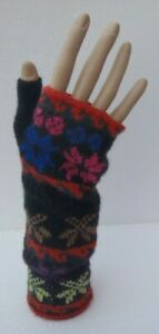 Alpaca-Fingerless-Wrist-Warmers-Fagin-Gloves-Multi-Colour-Soft-amp-Warm