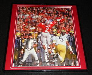 Cris-Carter-1986-Ohio-State-Buckeyes-Framed-12x12-Poster-Photo