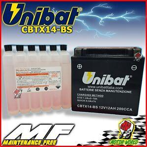 BATTERIA-UNIBAT-AGM-CBTX14-BS-12AH-ACIDO-BMW-K-1300-S-HP-2012-IN-POI