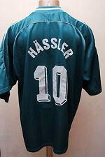 GERMANY 1998/1999/2000 AWAY FOOTBALL SHIRT JERSEY TRIKOT ADIDAS HASSLER #10