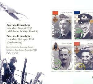 Brillant Australie En Guerre Souvenir Héros De Guerre Neuf Sans Charnière Shet/vitre-afficher Le Titre D'origine MatéRiaux De Haute Qualité