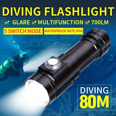 Scuba Diving 3000LM Underwater XM-L T6 LED Flashlight Torch 60m Waterproof Lamp