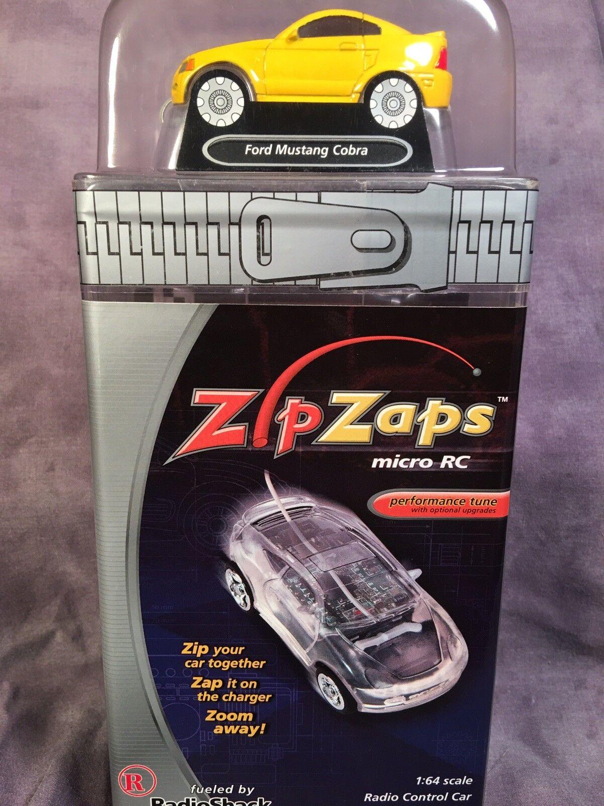 Zip Zaps 2002 Micro RC 1 64 YELLOW FORD SVT MUSTANG COBRA 29MHZ RAREORIGINAL
