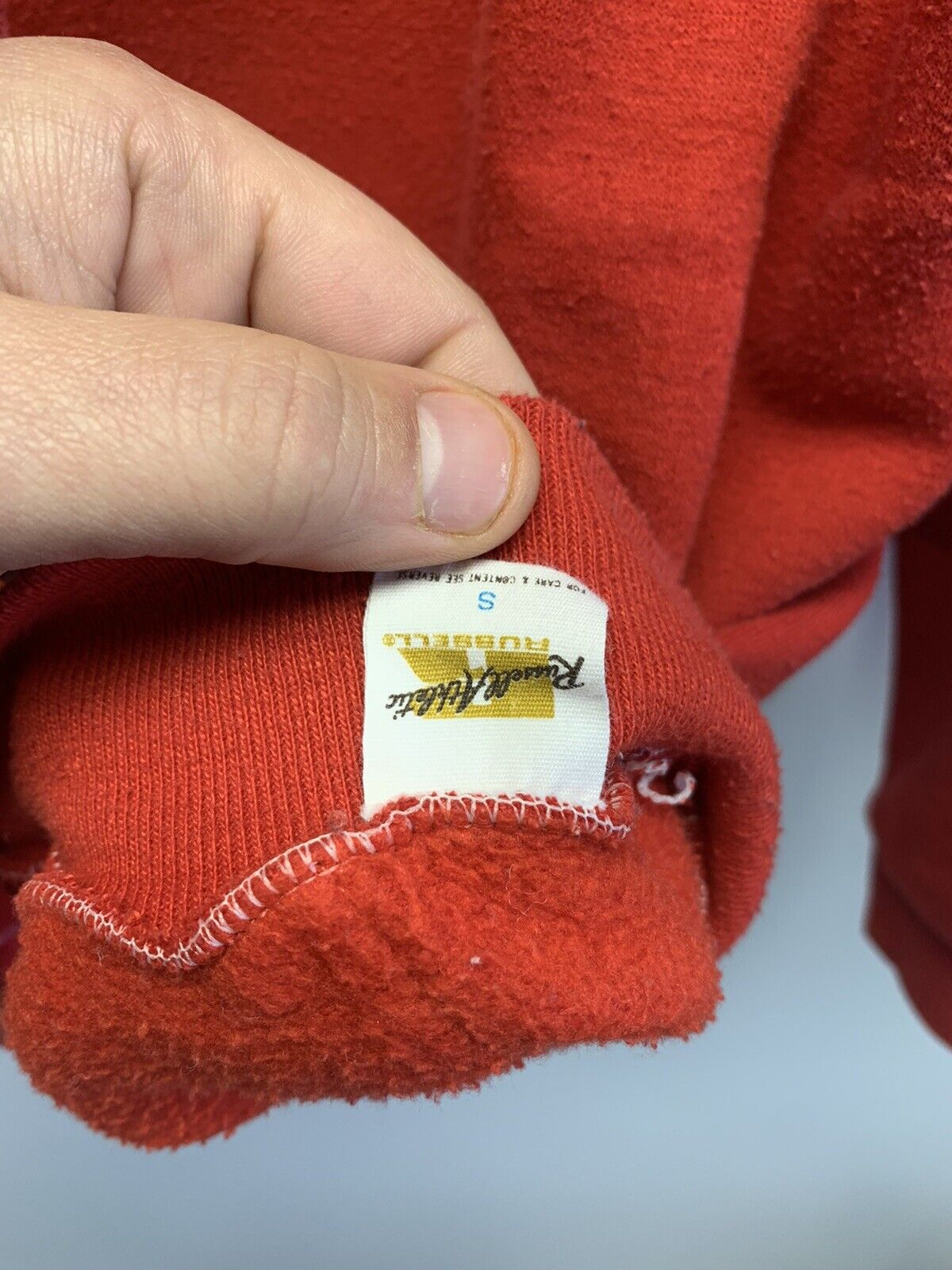 Vintage Russell Athletic Gold Tag Blank Hooded Sw… - image 4