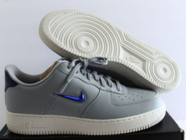 super cheap exquisite style where can i buy NIKE AIR FORCE 1 07 LV8 LEATHER WOLF GREY-DEEP ROYAL BLUE SZ 11.5  [AJ9507-002]