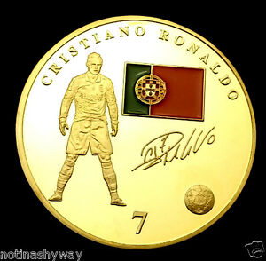 Ronaldo Real Madrid World Cup Gold Coin Brazil Signature 2018 Juventus Turin UK