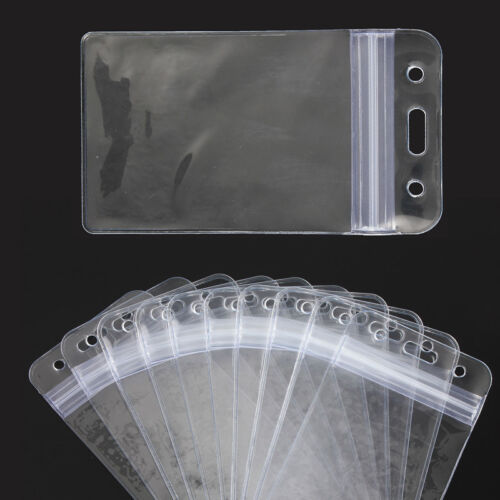 10PCS löschen vertikalen Art-Kasten-Halter PVC-Identifikation-Karten-Halter