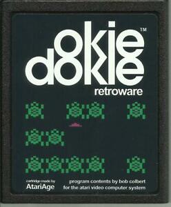 Atari-2600-Homebrew-Game-AtariAge-OKIE-DOKIE-Cartridge-amp-Manual-New
