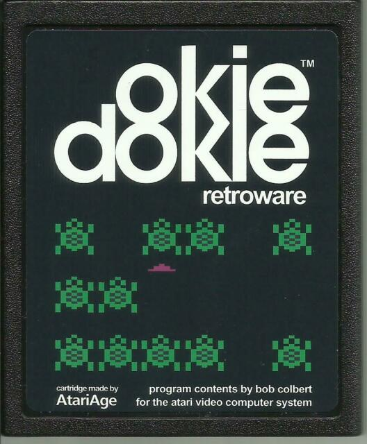 Atari 2600 Homebrew Game AtariAge OKIE DOKIE Cartridge & Manual New!