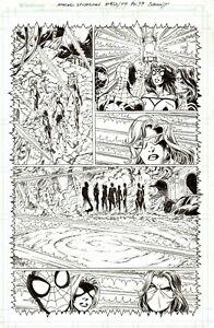 MARK BAGLEY 2020 SPIDER-MAN, MILES MORALES, SPIDER WOMAN, SILK ORIG. ART-PG. 49!