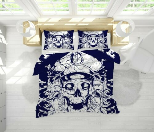 3D Retro Skeleton Quilt Cover Set Bedding Duvet Cover Single//Queen//King 48