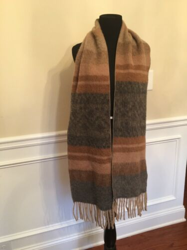 All Alpaca Baby Alpaca Scarf Brown Hues And Fringe