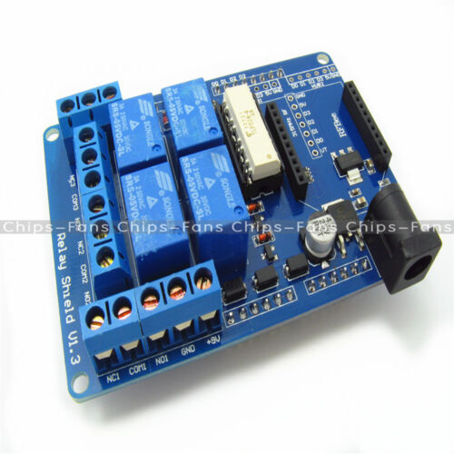 DC 9V 4 canales 70W Escudo De Relé con Optoacoplador para Arduino Mega 2560 R3 Xbee