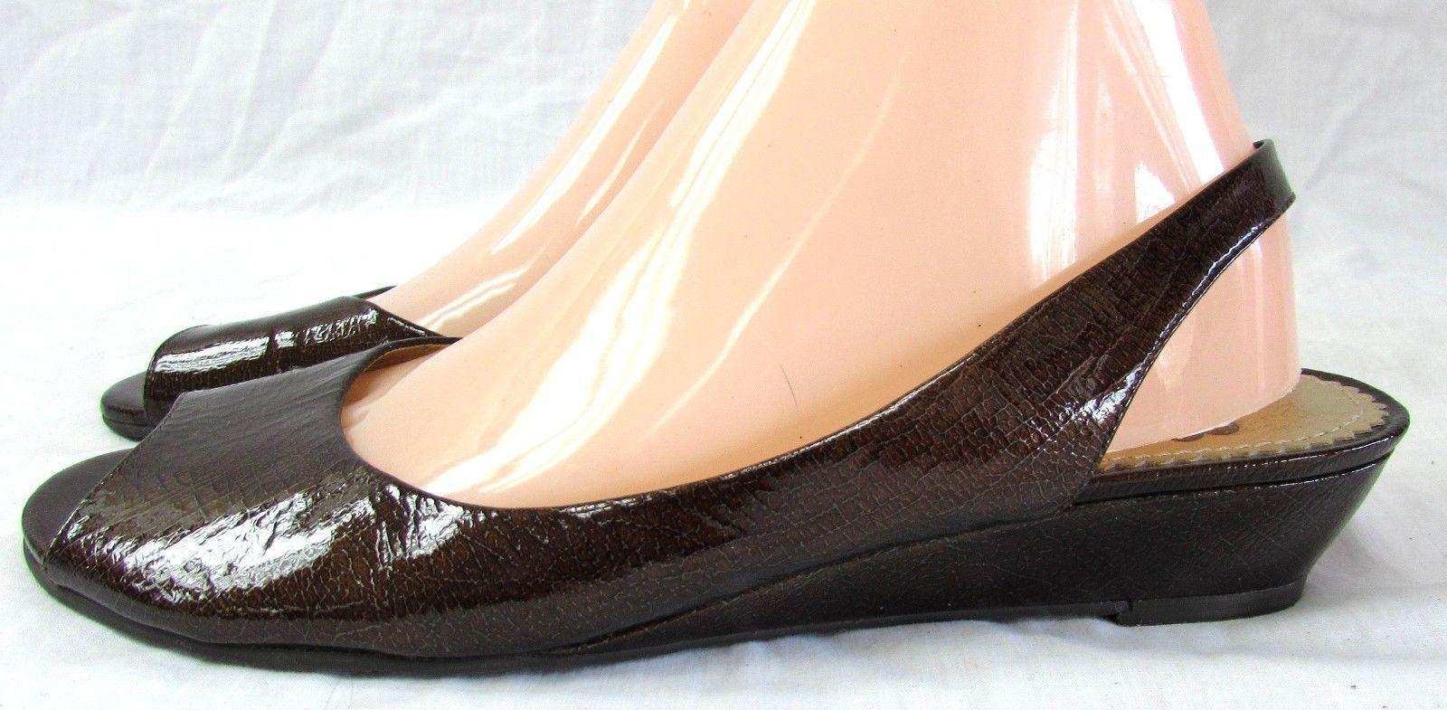 Gianni Bini  women's size 9 B slides sandals patent leather slingback  shoes
