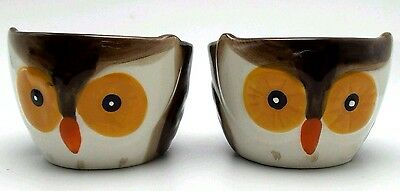 Owl Ramekins Ceramic Set of 2 Oven Washer Microwave Safe New 2015