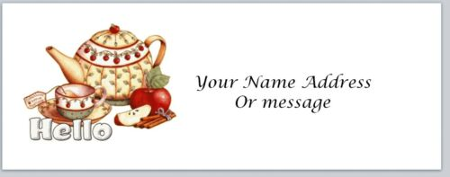 c 84 Personalized Address labels Primitive Country Teapot Cup Buy 3 Get 1 free