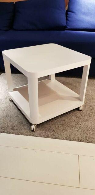Ikea Tingby 64x64 Cm Table D Appoint Avec Roulettes Gris Turquoise Blanc Basse Achetez Sur Ebay