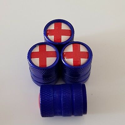 GT Red Wheel Valve Dust caps ANTI THEFT all Models green blue Mustang more color