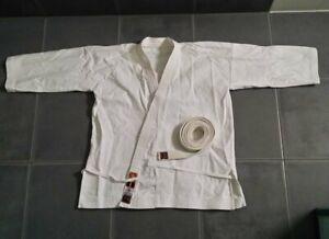 Karateanzug Budokan Rhode Budogi Yamanashi Karate Jacke mit Gürtel weiß