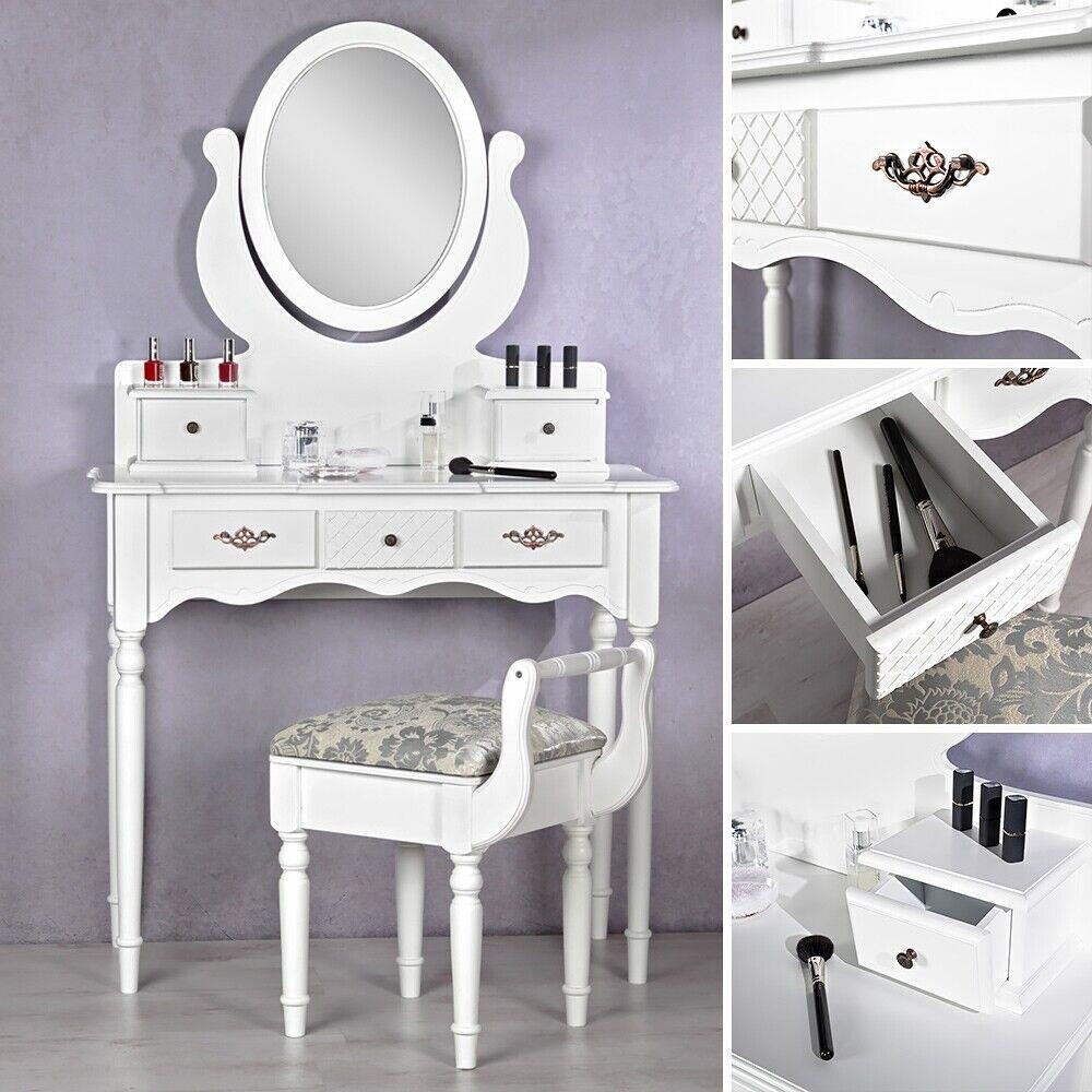 Table de coiffure table de maquillage commode de Tabouret Blanc enjoué cosmétiques