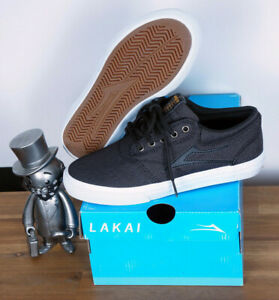 Lakai Skateboard Footwear Skate Schuhe Shoes Griffin Black Textile 5,5/38