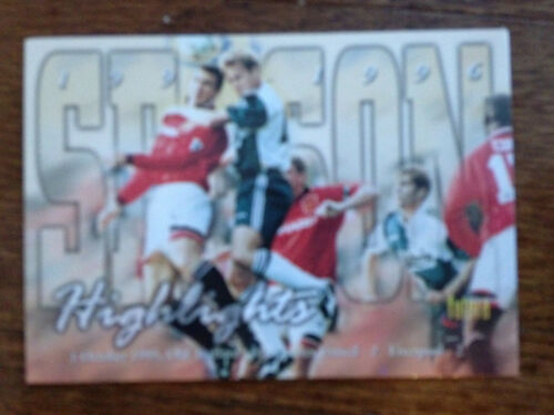 1997 Futera Manchester United Soccer Card ERIC CANTONA Mint