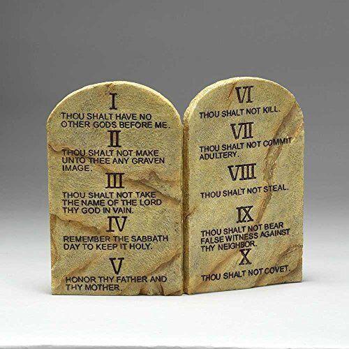 Religious Cast Stone Ten Commandments Garden Plaque Decorative Christmas Gift For Sale Online Ebay