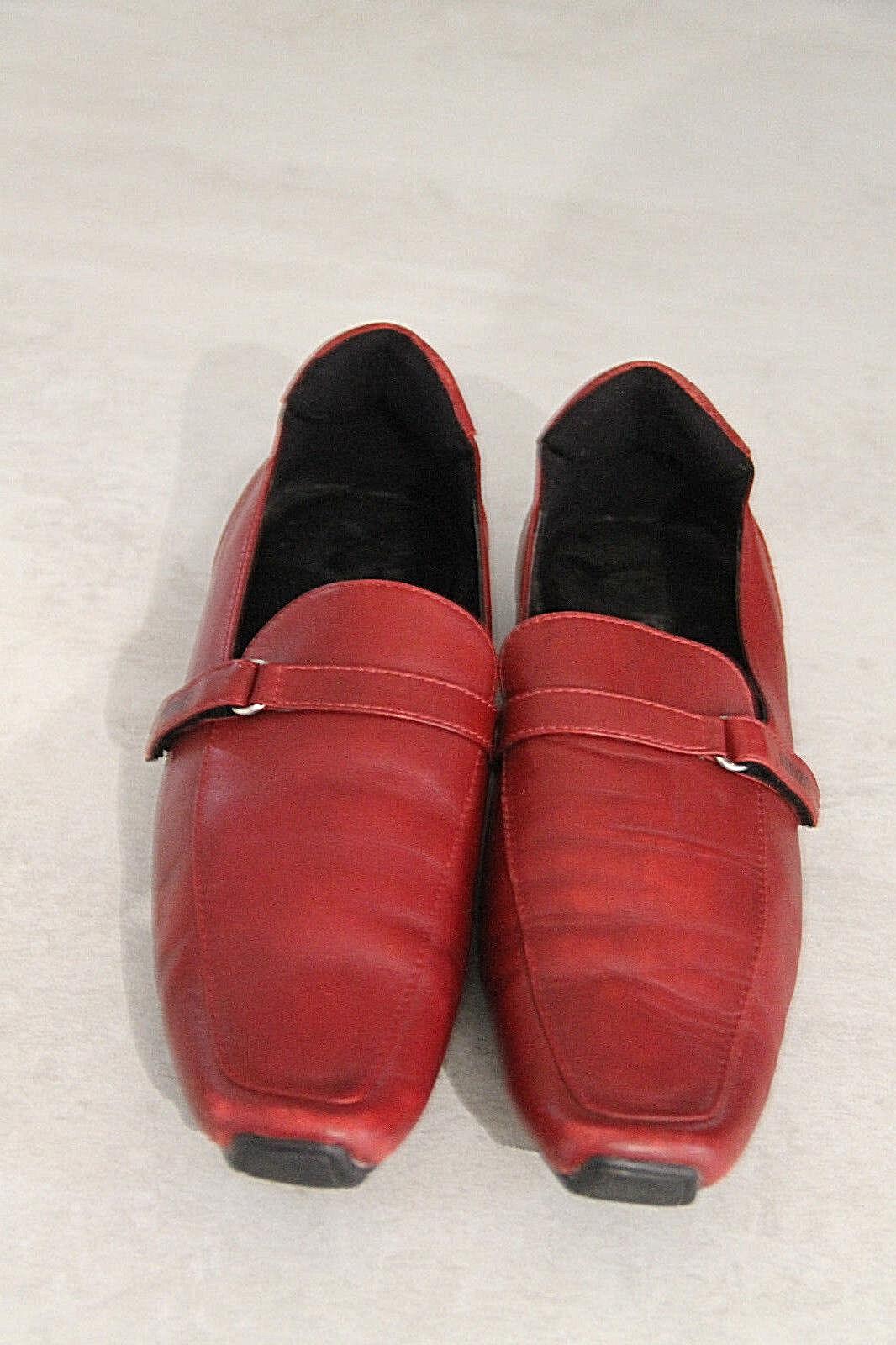 mocasines punta rojo cuadrado cuero rojo punta burdeos KENZO en perfecto estado 9ca1d1