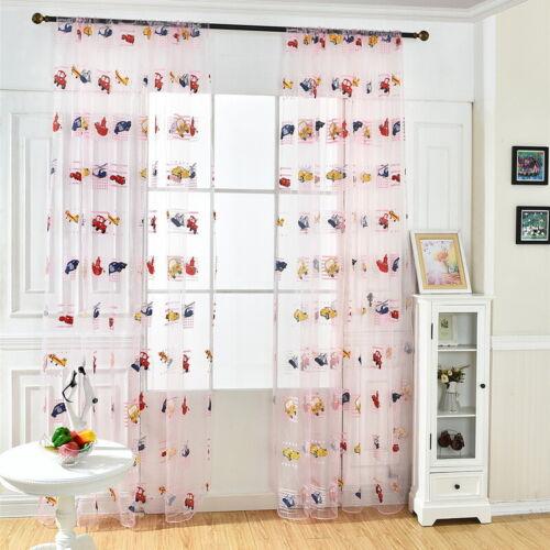 US Fashion Kids Cartoon Car Window Curtain Blockout Curtains Kids Room Decor JAP