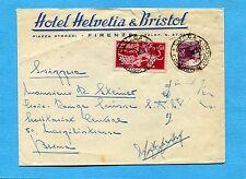 EXP.DEM.£.15+DEMOCR.£.20 ann.LUCCA,11.11.47 su B intestata HOTEL HELVETIA(502367