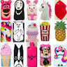 New 3D Cartoon Soft Silicone Gel Phone Case Back Cover Skin For iPhone HTC LG