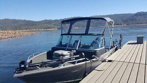 Details about Convertible Bimini Top for DEEP V Aluminum Fishing Boat 5'L x  47