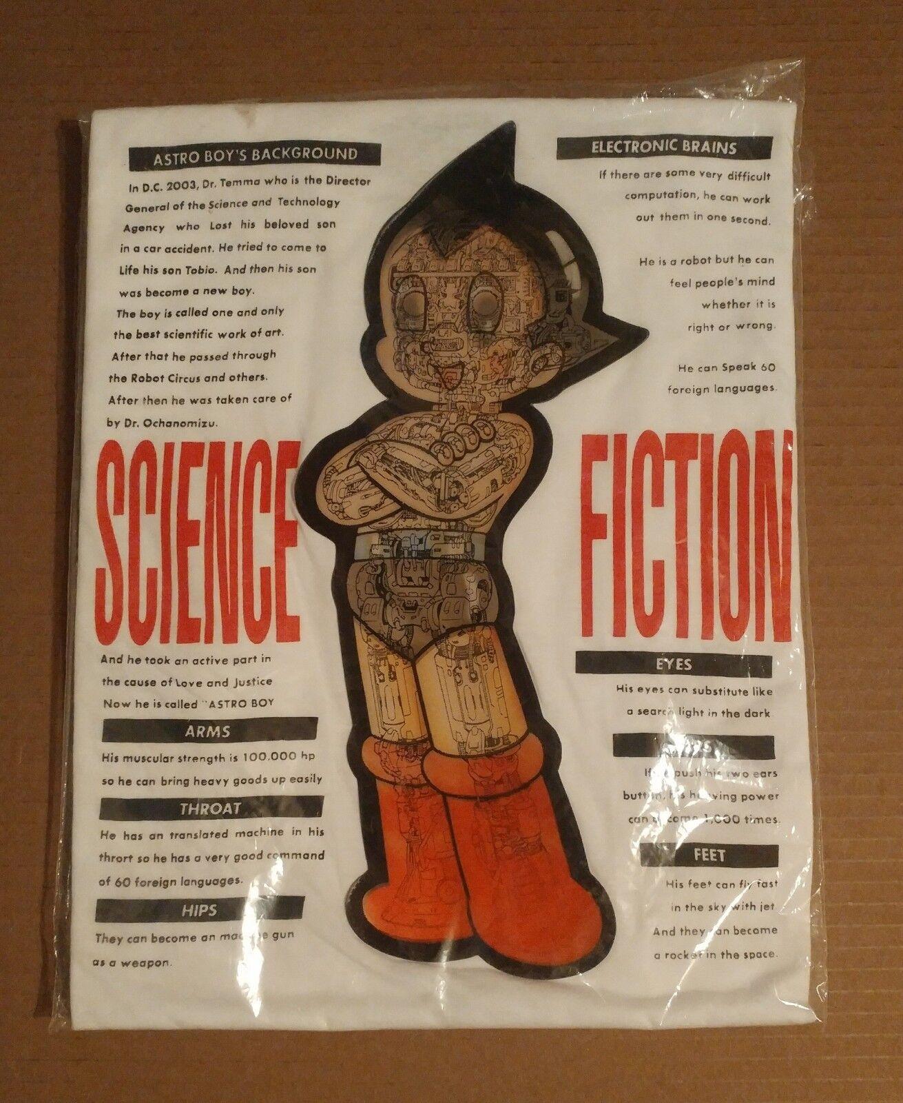 Astro Boy Tetsuwan Atom Hologram Lenticular 3D T-Shirt Japan 1990s Rare Unused