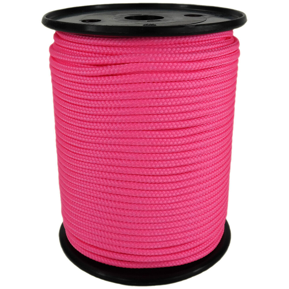 Polypropylene Rope PP 5mm 100m Neon-Pink (3250) Braided