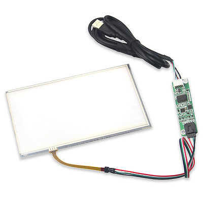 """165*100mm 7"""" Touch Panel AT070TN90 USB Port Touch Controller Driver Kit 4-Wire"""