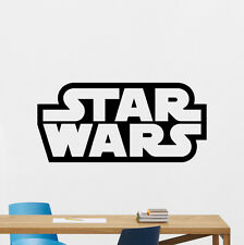 Star Wars Wall Decal Logo Emblem Word Vinyl Sticker Movie Decor Art Poster 84hor