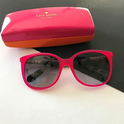 72149a61d6 Kate Spade NY JULIEANNA S 0S35 Fuchsia Pink Spotted Gold Tone Sunglasses NEW